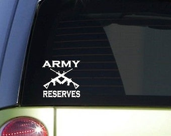 """Army Reserves 6"""" Sticker *F103* Decal Police Miltary Army Navy Marines Air Force"""