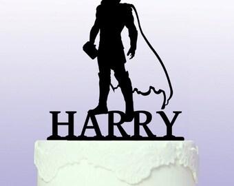 Personalised Thor Superhero Cake Topper