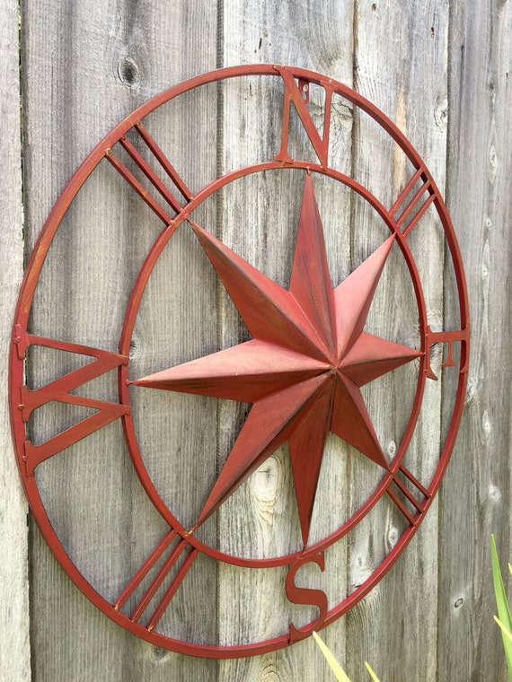 40 Nautical Compass Metal Compass Wall Art By Honeywoodhome
