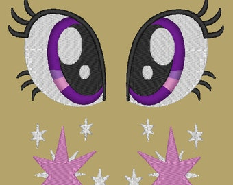 MLP:FiM Twilight Sparkle Eye and Cutie Mark PES set