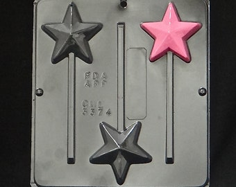 Star Lollipop Chocolate Candy Mold 3374