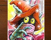 Orko from He-Man MOTU | Comic art | ACEO Original Art Card