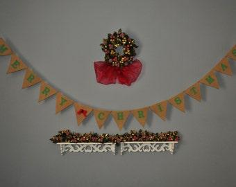 CHRISTMAS DECORATION Merry Christmas Banner - Christmas Photo Prop - Christmas Sign - Christmas Bunting - Christmas Garland Photo Prop