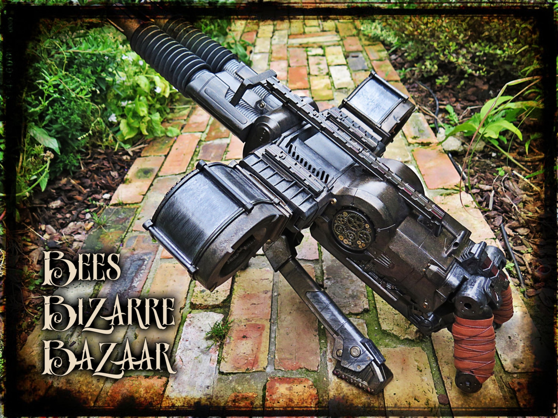 Steampunk Nerf Gun Machine Gun Rhino Fire Cosplay
