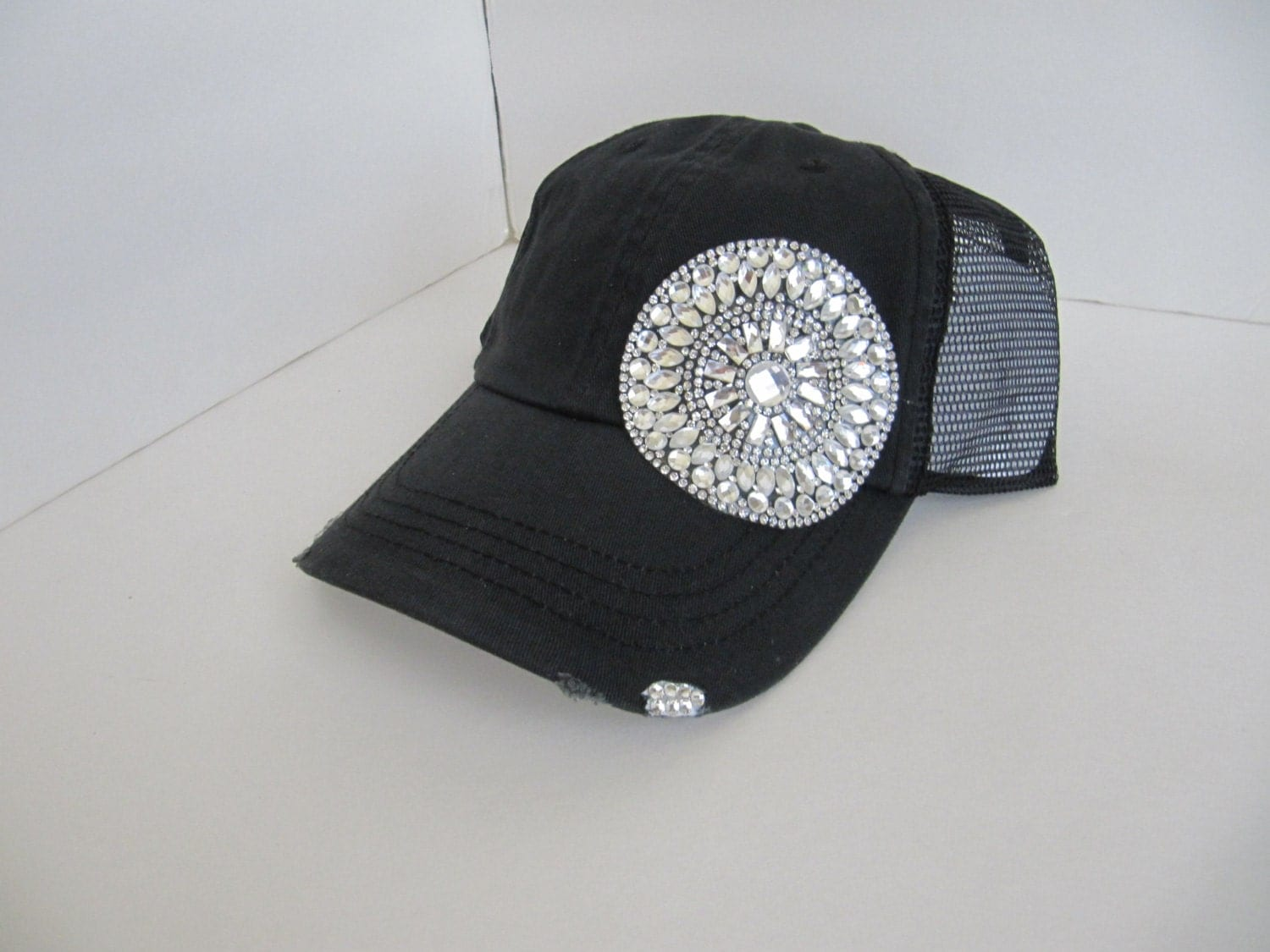 trucker hat cap bling hat womens hats by theapicellaedge