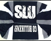 Infinity Scarf SLU Saint Louis University BILLIKENS Team Spirit Upcycled Woman's T-Shirt New Handmade Scarves