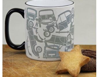 Morris Minor Saloon Autojumble Mug