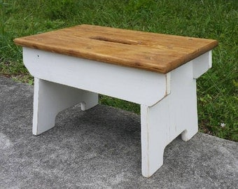 Farmhouse Style Step Stool - Handmade