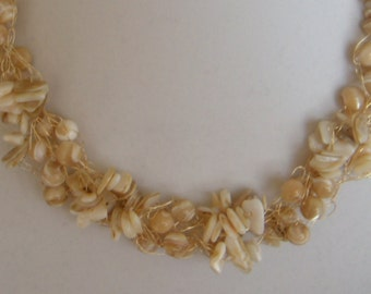 Chunky Cream Mother of Pearl Beads and Chips