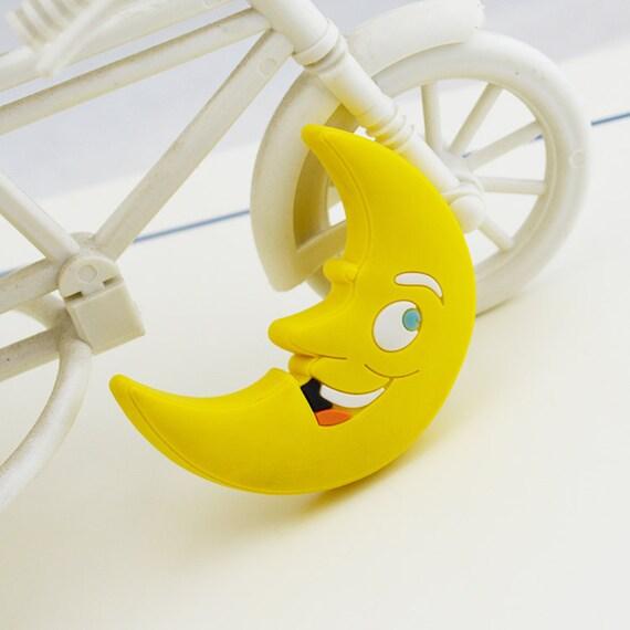 Moon knob kids dresser knobs drawer knobs pulls yellow for Children s bureau knobs
