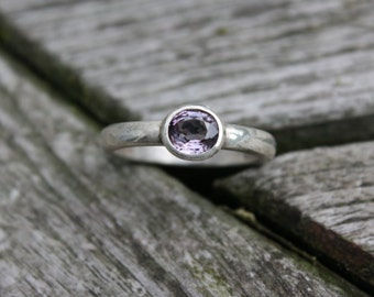 Size 7 1/2 Sterling Silver Spinel Ring