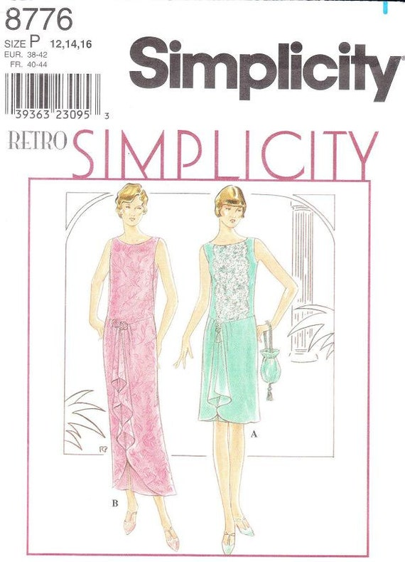 Simplicity 8776 Misses' 1920s Dress Sewing Pattern 12-16