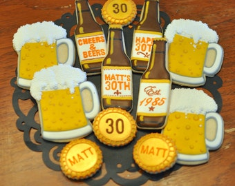 Beer Themed Cookies