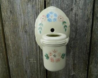 Vintage Porcelier Art Deco Ceramic Porcelain Wall Light Fixture Sconce