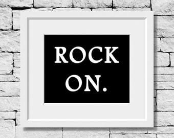 Rock On, Music Quote, Music Decor, Music Teacher, Music Room Decor, Music Student, Music Art, Typography, Music Poster