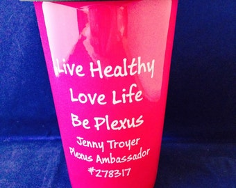 14 oz ceramic latte mug with silicone lid with sip through hole Personalized Engraved