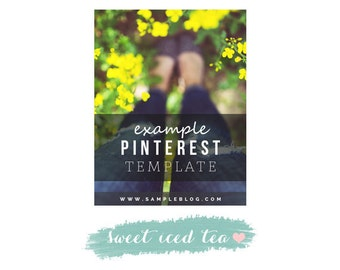 Pinterest Blog Post Graphic Template- Fully Layered Photoshop File- Instant Download