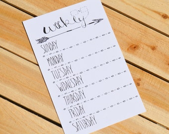Weekly To Do List // Printable