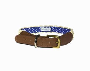 Nautical Rope Dog Collar