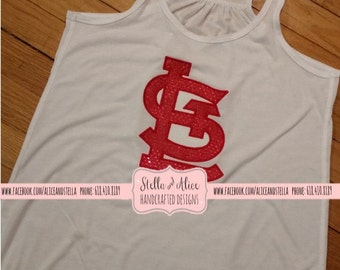 STL Racerback Tanktop - Cardinals, St. Louis, Embroidery, Applique
