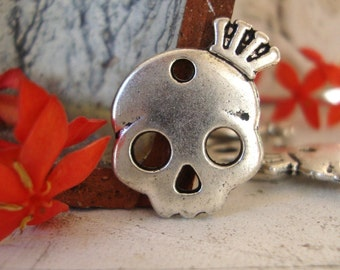 Skull Crown, Jewelry Charms,Skull Charm