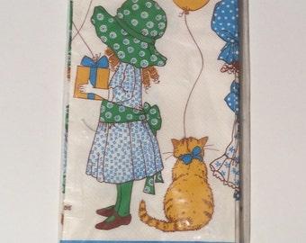 Vintage NIB 1970s Hollie Hobbie Paper Tablecloth, 54 x 96