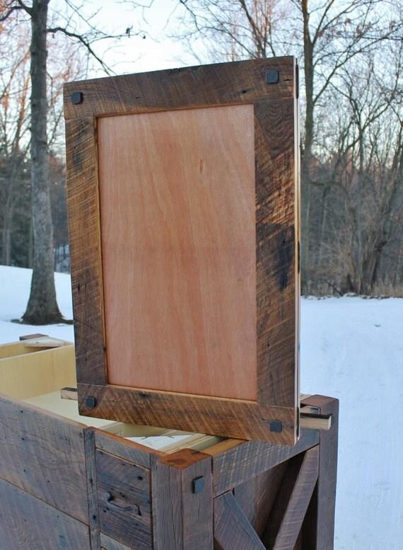 rustic medicine cabinet recessed w mirror frame reclaimed. Black Bedroom Furniture Sets. Home Design Ideas