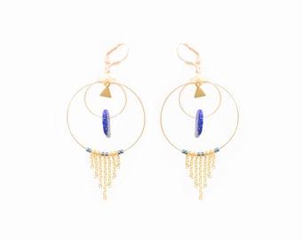 """Earrings """"Kinta"""" brass & gold plated"""