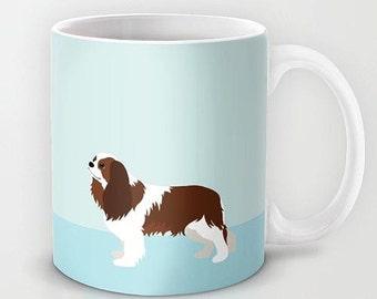 Personalized mug cup designed PinkMugNY - Cavalier King Charles Spaniel - Blenheim