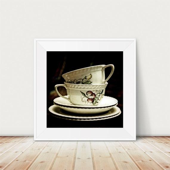 Items Similar To Still Life Photography Tea Cups Print