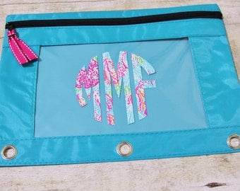 Lilly Pulitzer Monogrammed Pencil Pouch Lilly Pulitzer Decal Back to School Personalized School Supplies Monogrammed Pencil Pouch BTS Lily