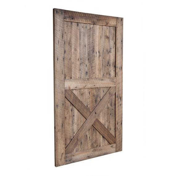 Hanging barn door from reclaimed barn wood by waltonwoodcraft for Hanging barn door in house