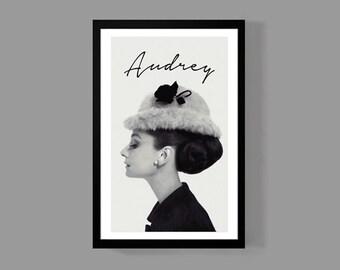 Audrey Hepburn Movie Poster - Breakfast at Tiffanys, Fashion icon, Wall poster, Pop art