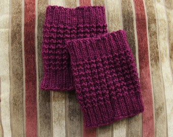 CUSTOM Boot Cuffs - Hand Knit - MADE 2 ORDER - Womens Boot Socks / Boot Topper - Various Colors