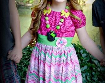 Girls dress, girls clothing, girls Easter dress, girls spring dress, girls birthday dress, sizes 2T, 3T, 4T, 5, 6, 7, 8, 10