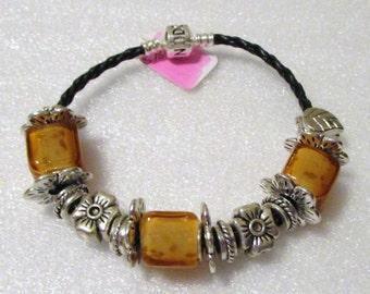 768 - Amber Square Bracelet