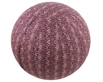 65cm Exercise Ball Cover, Yoga Ball Cover, Fitness Ball Cover, Fair Trade - Maroon Rhapsody.