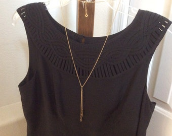 Delicate Y necklace