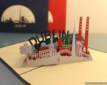 Dublin, Ireland pop-up card