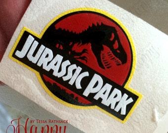 Jurassic Park Logo, Jurassic Park Decal, Jurassic Park Bumper Sticker, Jurassic Park Sticker, Jurassic Park Logo Decal, Jurassic Park Sign