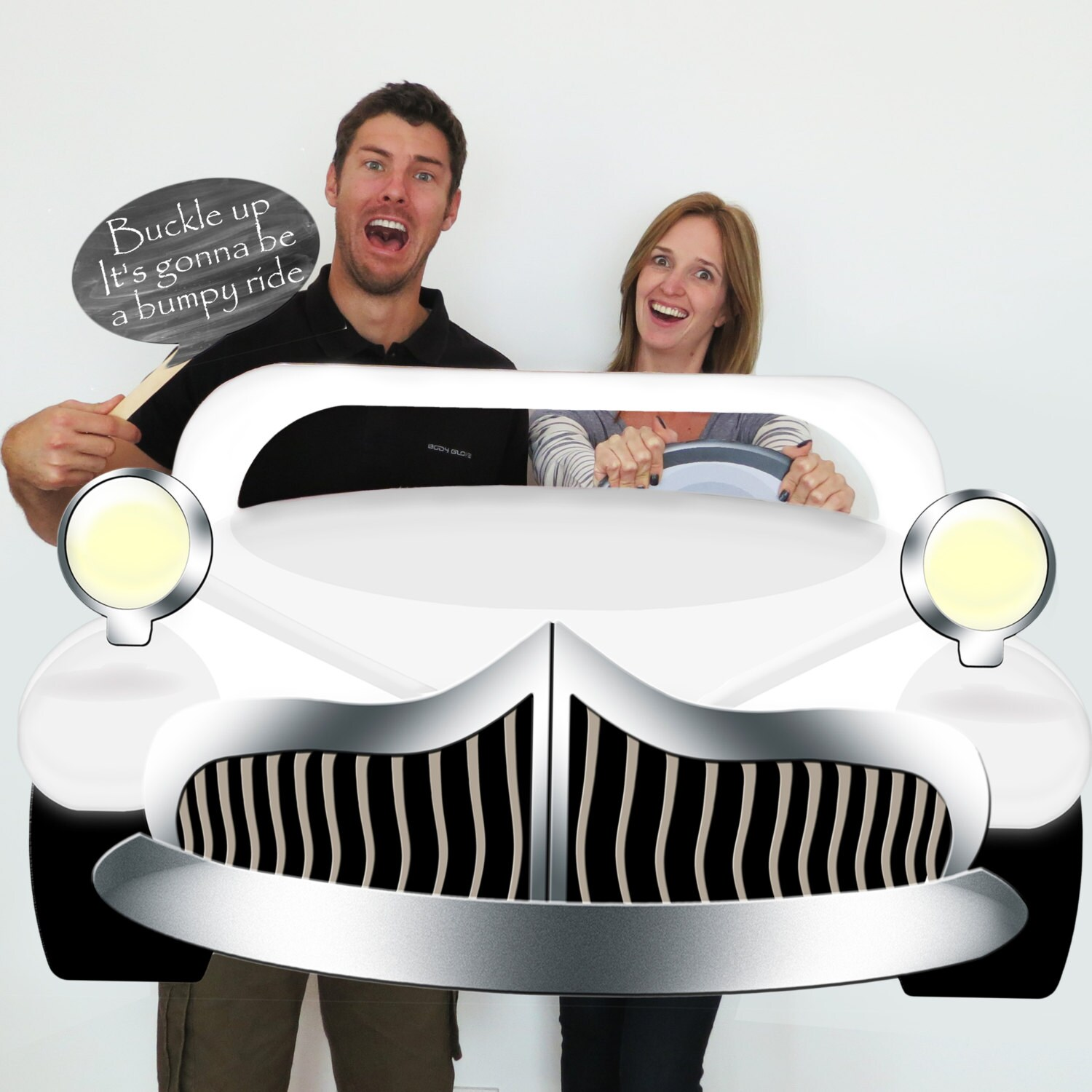 White GREASE Inspired EXtra Large Car Photo Booth Prop Grease