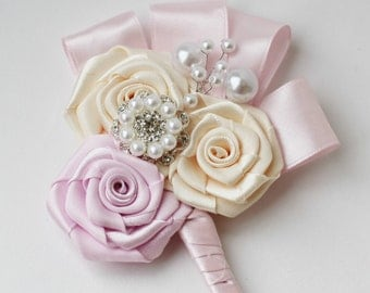 BEST SELLER Pale Dusty Pink Wedding Boutonniere Buttonhole Wedding Boutineer  groom groomsmen Weddings Boutineer father of the bride