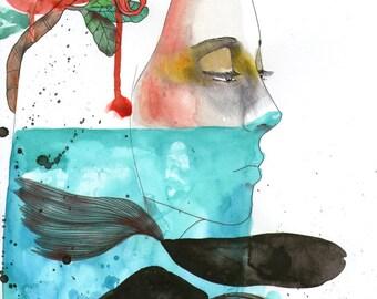 I sea blue - original art by ongnphuong // Phuong Ong