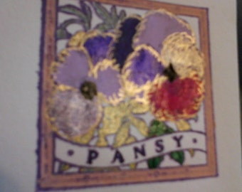 Joy and Pansy Notecards and Fabric Flowers