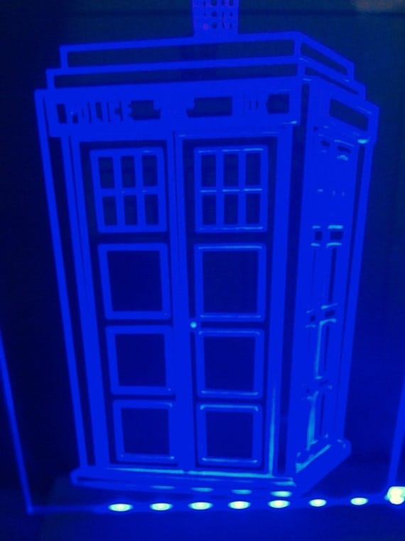 dr whos phone box light up sign by incredibleinnovation on etsy. Black Bedroom Furniture Sets. Home Design Ideas