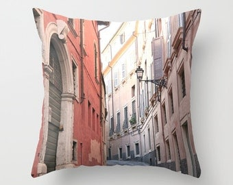 Velveteen Pillow - Italy Pillow - Verona Street - Dorm Pillow - Teen Pillow - Girls Pillow - Dorm Decor - Teen Room Decor - Pastel Pillow