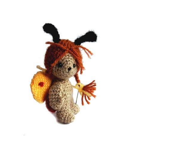 crochet BUTTERFLY miniature butterfly tiny butterfly mini