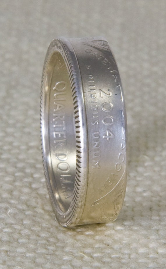 2006 silver coin ring state quarter dollar size 3 13 nevada