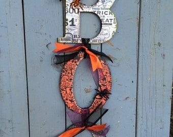 Halloween BOO Door Hanger - Halloween Door decoration - Halloween Wall Decoration - Halloween Decorations  - Halloween wreath