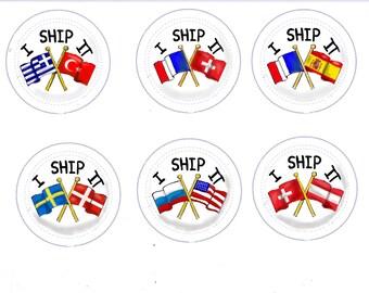 I Ship It! *CUSTOM* Hetalia Country Buttons, APH Hetalia